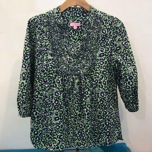 Lilly Pulitzer cheetah print top